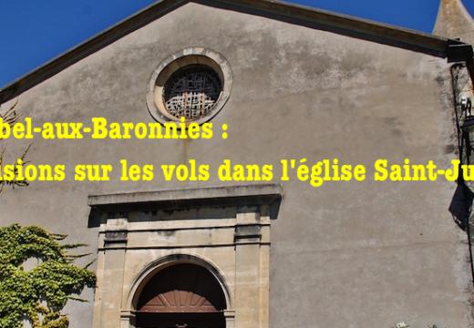 Mirabel-aux-Baronnies : précisions sur les vols dans l'église Saint-Julien