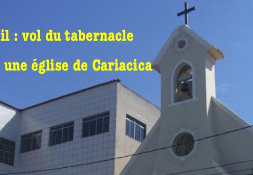 Brésil : tabernacle et hosties consacrées volés dans une église de Cariacica