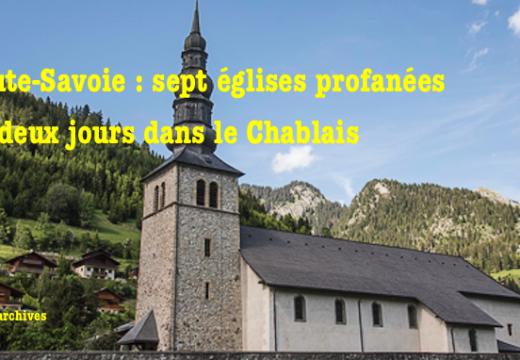 Haute-Savoie : sept églises profanées !