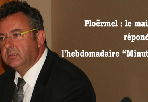 """Ploërmel : le maire répond à l'hebdomadaire """"Minute"""""""