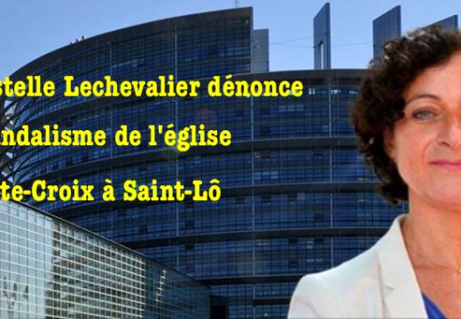 Christelle Lechevalier dénonce le vandalisme dans l'église de Saint-Lô