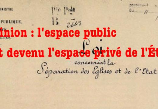 InfoCatho : l'espace public est devenu l'espace privé de l'État…