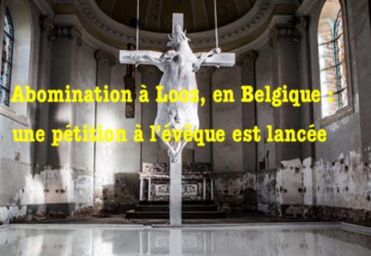 Belgique : pétition à l'évêque pour le sacrilège de la « vache crucifiée » !