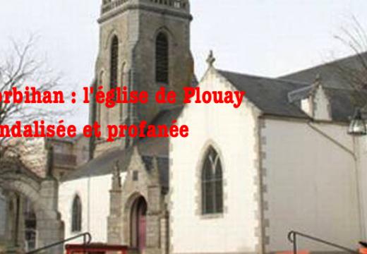 Morbihan : église profanée et vandalisée à Plouay