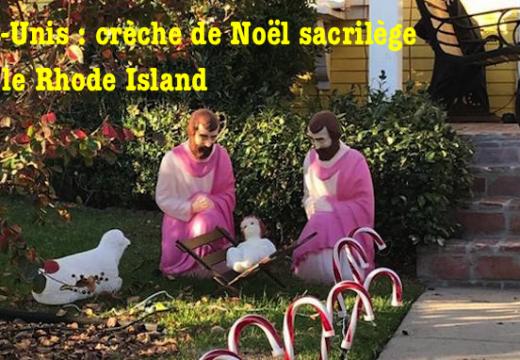 Rhode Island : une Crèche de Noël sacrilège…