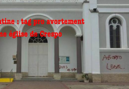 Argentine : église taguée par des pro avortement