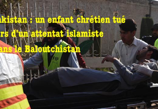 Pakistan : un enfant chrétien de 7 ans tué dans un attentat islamiste