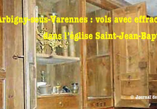 Arbigny-sous-Varennes : vols avec effraction dans l'église
