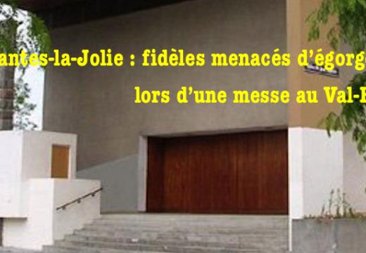 Mantes-la-Jolie : fidèles menacés d'être égorgés à la fin de la messe