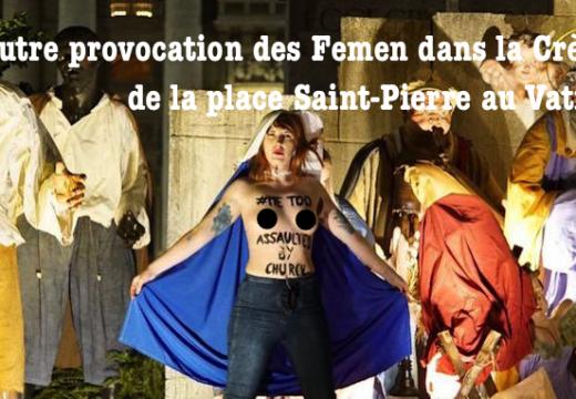 Autre provocation des Femen à la Crèche de la place Saint-Pierre…