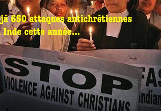Inde 650 attaques contre des chrétiens cette année…