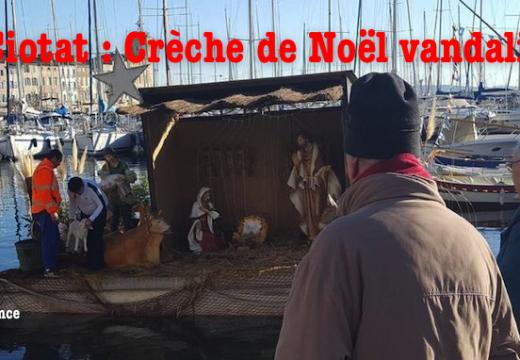 La Ciotat : la Crèche de Noël flottante vandalisée