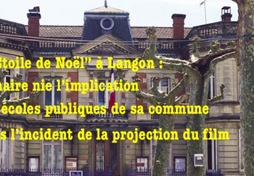 """Langon : l'affaire de """"L'Étoile de Noël"""" n'aurait rien à voir avec les écoles publiques de la ville"""