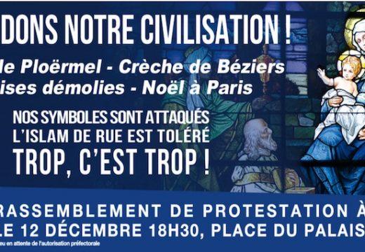 Défendre l'identité chrétienne : manifestation à Paris le 12 décembre