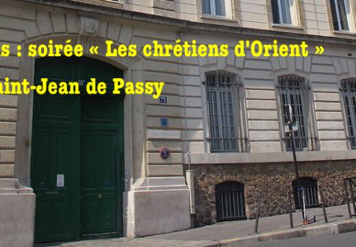 Paris : soirée « Les chrétiens d'Orient »