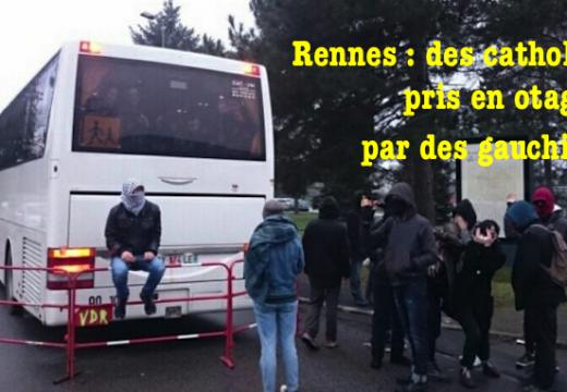 Les AFC de Vannes prises en otage par des  manifestants à Rennes
