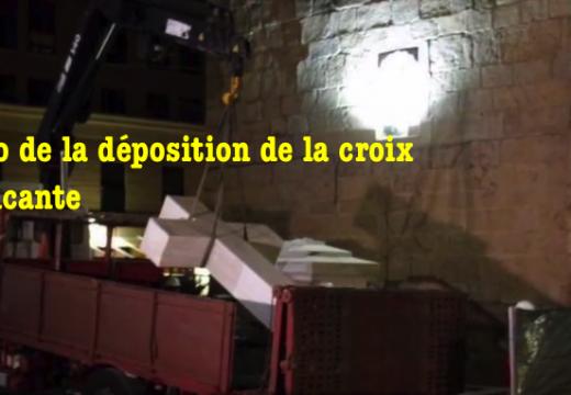 Vidéo : la déposition de la croix à Alicante