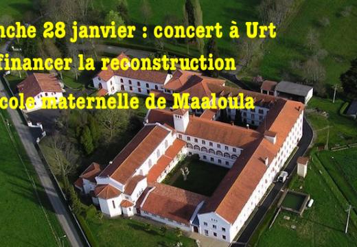 Concert à Urt pour reconstruire l'école maternelle de Maaloula