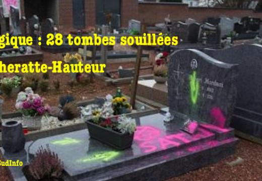 Vidéo : 28 tombes taguées à Cheratte-Hauteur en Belgique