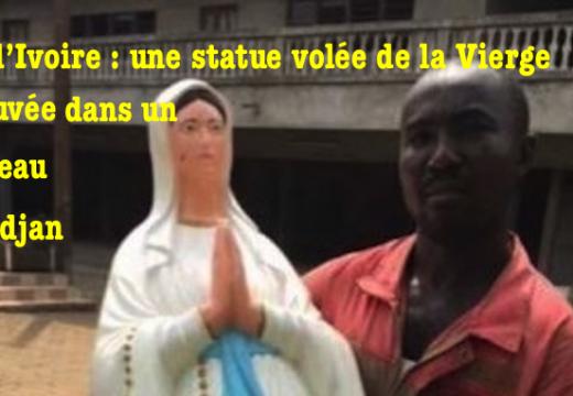 Côte d'Ivoire : une statue de la Vierge retrouvée dans un caniveau
