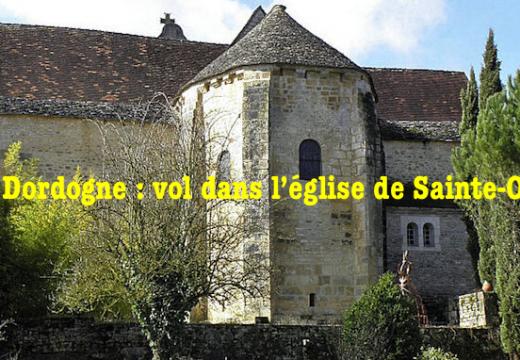 Dordogne : vol dans l'église de Sainte-Orse
