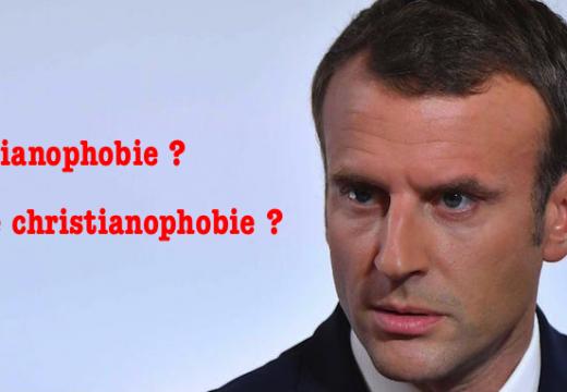 Emmanuel Macron et la christianophobie…
