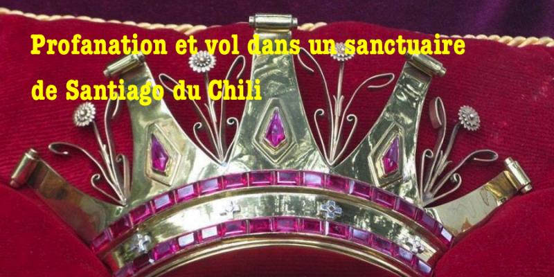 Santiago du Chili : vol et profanation dans un sanctuaire