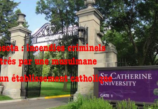 Minnesota : une musulmane incendie une université catholique