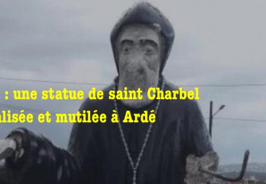 Liban : une statue de saint Charbel vandalisée et mutilée