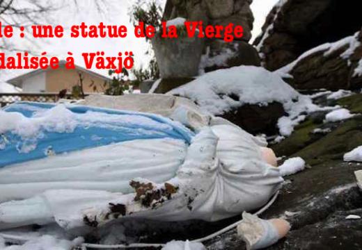Suède : une statue de la Vierge Marie vandalisée à Växjö