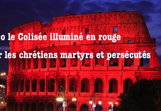 Vidéo : le Colisée illuminé en rouge pour les chrétiens persécutés