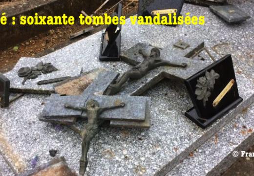 Ligugé : une soixantaine de tombes vandalisées