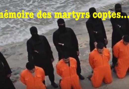 En mémoire des martyrs coptes égyptiens