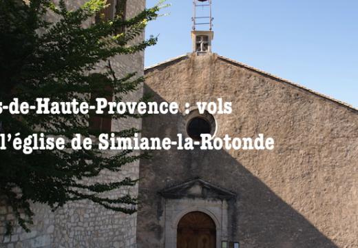 Simiane-la-Rotonde : vols dans l'église Sainte-Victoire