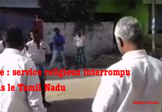 Inde : service religieux interrompu dans le Tamil Nadu