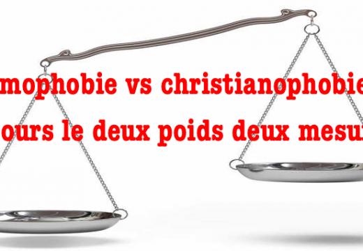Islamophobie vs christianophobie : deux poids et deux mesures