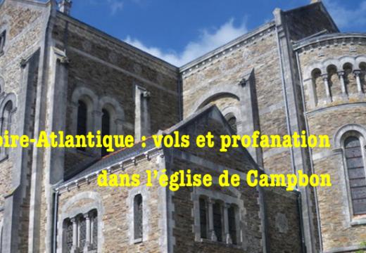 Loire-Atlantique : vols et profanation dans l'église de Campbon