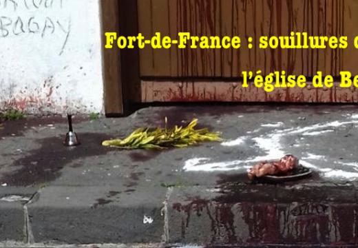 Fort-de-France : l'accès à l'église de Bellevue souillé