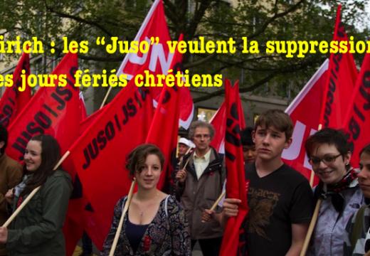 """Zürich : les """"Juso"""" veulent supprimer les jours fériés chrétiens"""