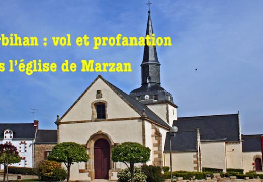 Morbihan : vol et profanation dans l'église de Marzan