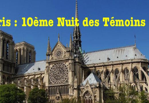 Paris : 10ème Nuit des Témoins de l'AED