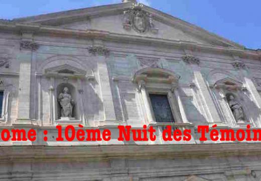 Rome : 10ème Nuit des Témoins de l'AED