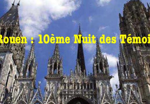 Rouen : 10ème Nuit des Témoins de l'AED