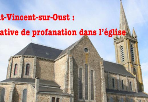 Morbihan : tentative de profanation dans l'église de Saint-Vincent-sur-Oust