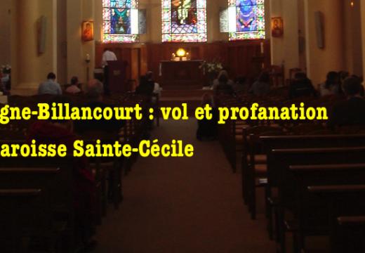 Boulogne-Billancourt : vol et profanation à la paroisse Sainte Cécile