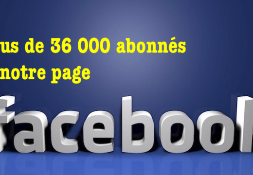 Page Facebook : + de 36 000 abonnés