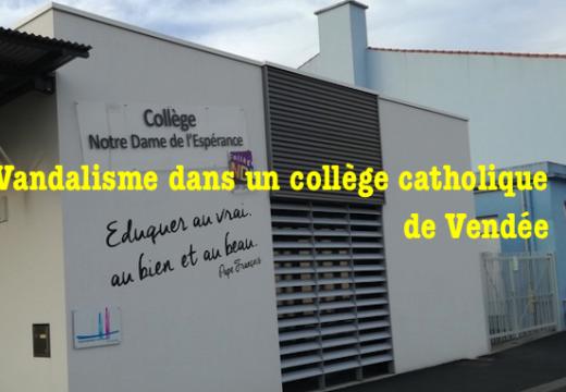 Vendée : vandalisme dans un collège catholique
