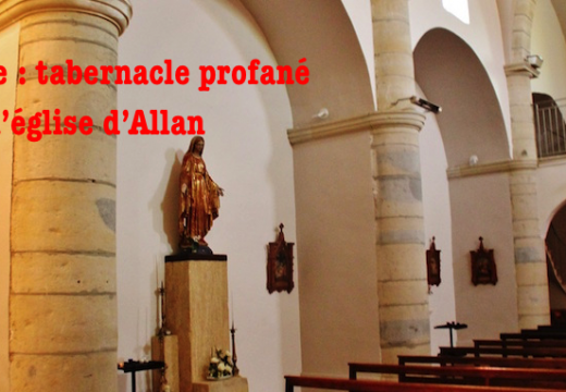 Drôme : profanation dans l'église d'Allan