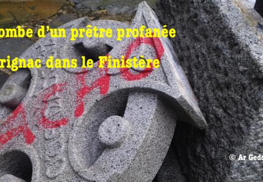 Finistère : la tombe d'un prêtre profanée à Scrignac