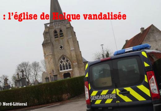 Nord : l'église de Holque vandalisée
